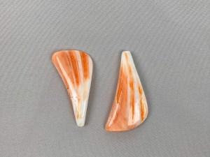 Crafted Irregular Shape Lion Paw Shell Loose Piece Symmetry - Per Pair