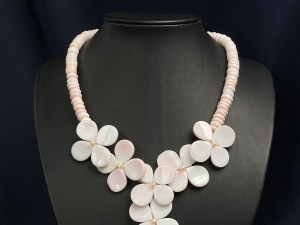 Floral Queen Conch Shell Beaded Necklace