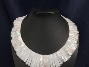 Irregular Trapezoid White MOP Necklace
