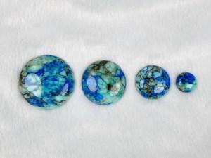 Round Azurite Turquoise Cabochon - Per Piece