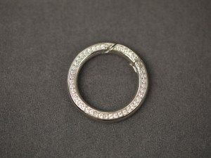 Round Cubic Zirconia Stone Sterling Silver Clasp - Per Piece