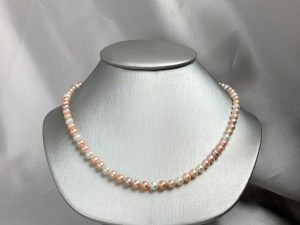 Small Multicolor Natural Freshwater Pearl Necklace