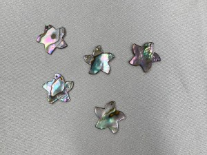 Star Shaped Abalone Loose Piece - Per Pair