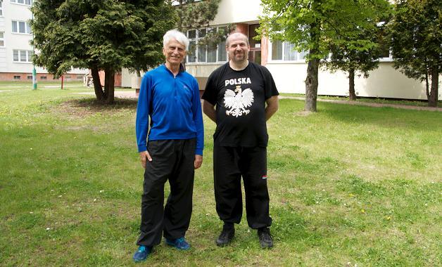 Trening z mistrzem Ly Jan Gliński(z lewej) i KO (ukryty za ptaszkiem)
