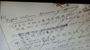 notatki Bruce Lee Memorabilia