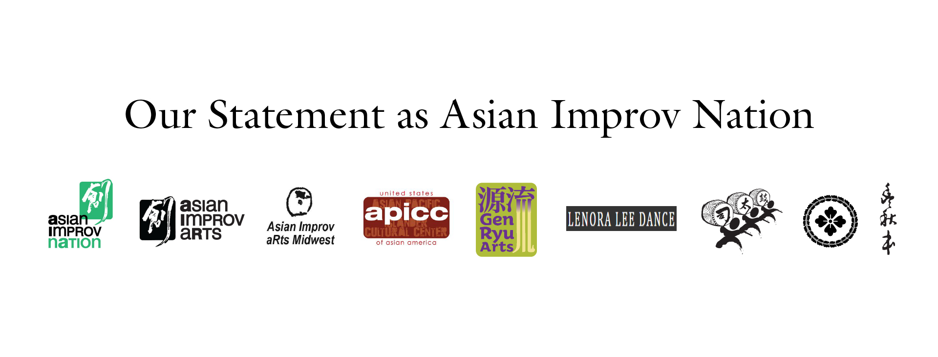 Our Statement – Asian Improv Nation