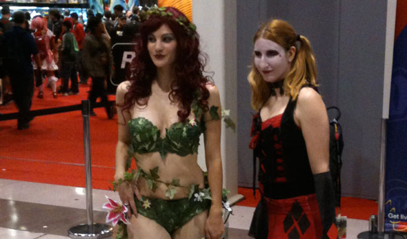 Costumed babes at Comic Con NYC 2011