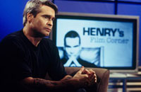 Henry Rollins on the set of his new show, 'Henry's Film Corner'