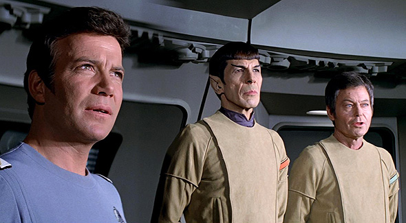 Kirk, Spock and Bones in 'Star Trek: The Motion Picture'