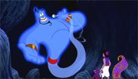 Robin Williams brings the Genie to life in 'Aladdin'