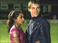 Parminder Nagra and Jonathan Rhys-Meyer in 'Bend It Like Beckham'