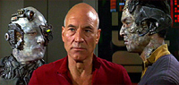 Patrick Stewart battles the Borg in 'Star Trek: First Contact'