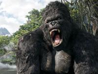 The giant gorilla roars in 'King Kong'