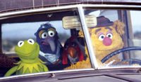 Kermit, Gonzo and Fozzie Bear get together to entertain in 'The Muppet Movie'