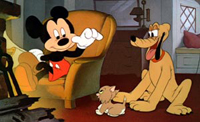 Pluto with Mickey Mouse in 'Walt Disney Treasures: The Complete Pluto'