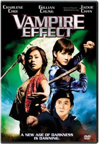 DVD cover for the Jackie Chan actioner, 'Vampire Effect'
