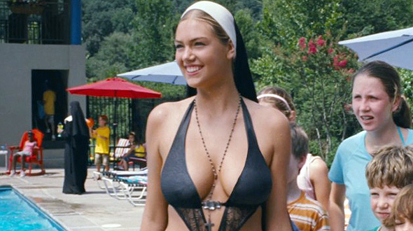 Kate Upton is unlike any nun you know in 'Three Stooges'
