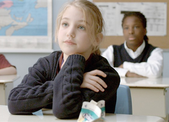Sophie Nelisse listens intently in 'Monsieur Lahzar'