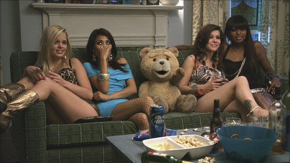 Ted with the ladies