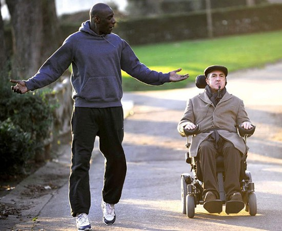 Omar Sy and Francois Cluzet in 'The Intouchables'