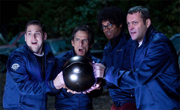 Jonah Hill, Ben Stiller, Richard Ayoade and Vince Vaughn in 'The Watch'