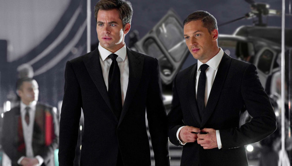Chris Pine and Tom Hardy in 'This Means War'