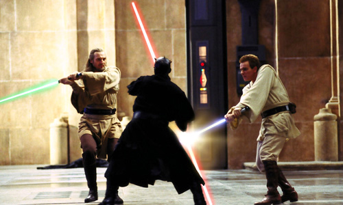 Jedi and Sith battle in 'Star Wars: Episode I - The Phantom Menace'