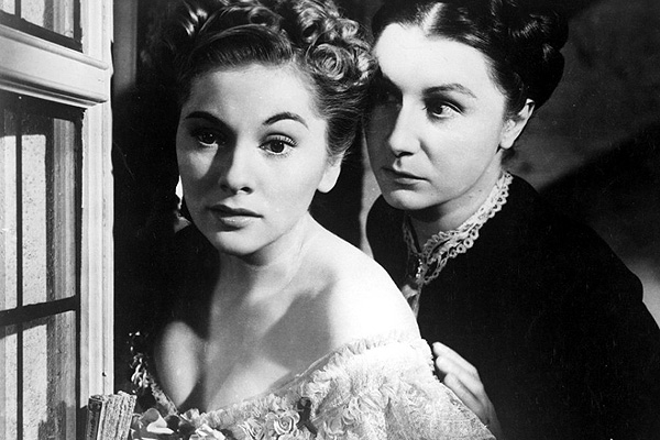 Joan Fontaine and Judith Anderson in 'Rebecca'