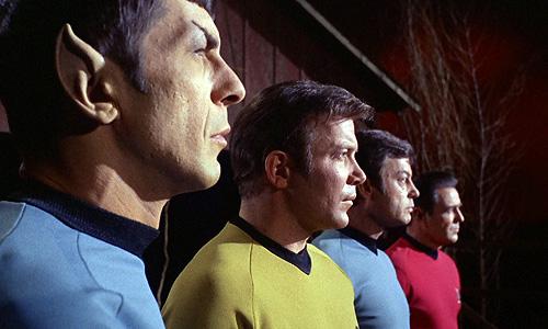 The big four of 'Star Trek': Spock, Kirk, Bones and Scotty