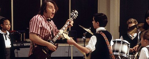 Jack Black teaches music in 'School of Rock'