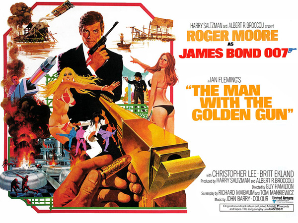 'The Man With The Golden Gun' movie poster