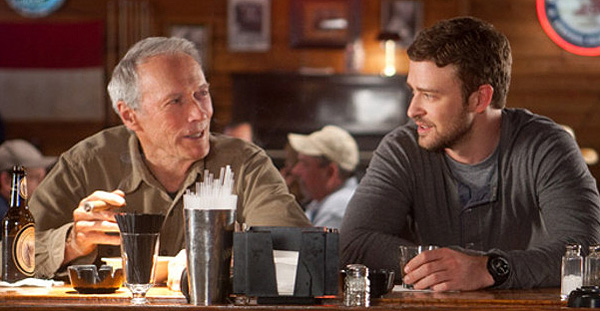 Clint Eastwood and Justin Timberlake in 'Trouble with the Curve'