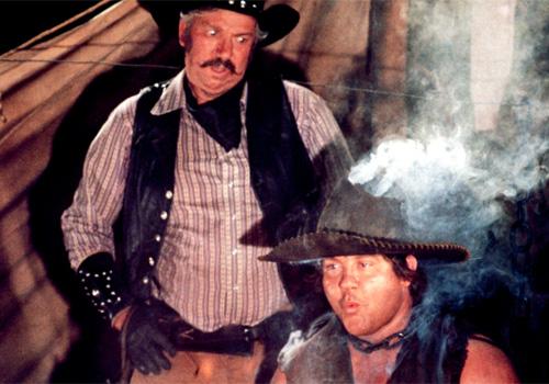 Alex Karras (right) as Mongo 'Blazing Saddles'