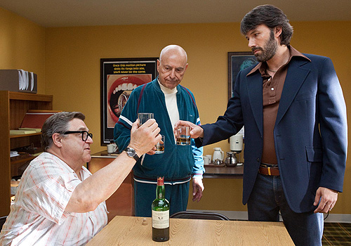 Ben Affleck with John Goodman (left) and Alan Arkin in 'Argo'