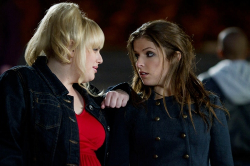 Anna Camp and Anna Kendrick in 'Pitch Perfect'