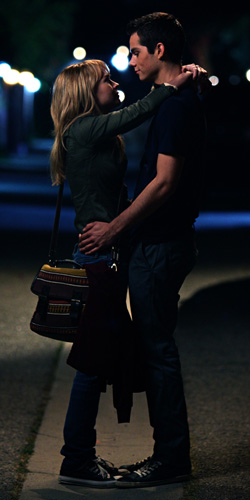 Brittany Robertson and Dylan O'Brien in 'The First Time'