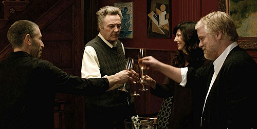 Mark Ivanir, Christopher Walken, Catherine Keener and Philip Seymour Hoffman in 'A Late Quartet'