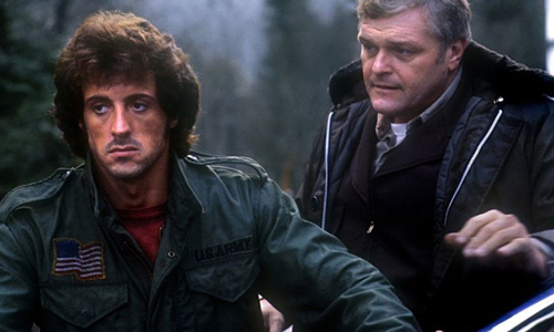 Sylvester Stallone and Brian Dennehy in 'First Blood'