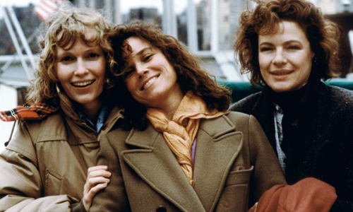 Mia Farrow, Barbara Hershey and Dianne Wiest in 'Hannah and her Sisters'