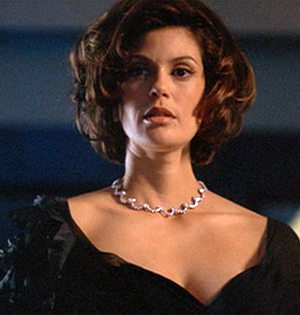 Teri Hatcher is a former lover of James Bond's in 'Tomorrow Never Dies'