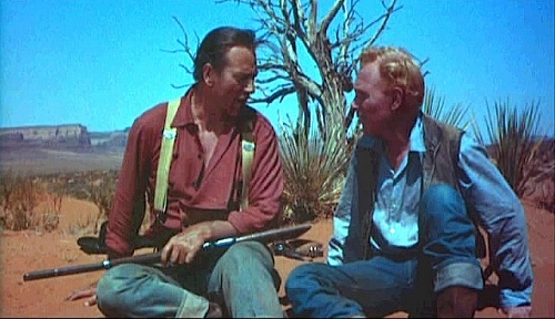 "Harry Carey Jr and John Wayne in ""The Searchers"""