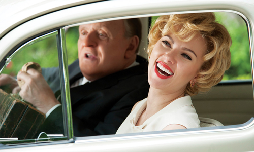 Anthony Hopkins and Scarlett Johansson in 'Hitchcock'