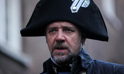Russell Crowe delivers an off-key performance as Javert