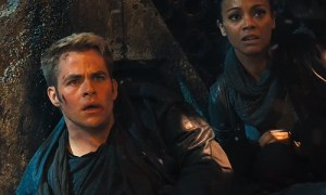 Chris Pine and Zoe Saldana face a 'force of terror' in 'Star Trek Into Darkness'