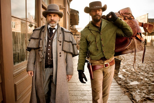Christopher Waltz (left) and Jamie Foxx in 'Django Unchained'