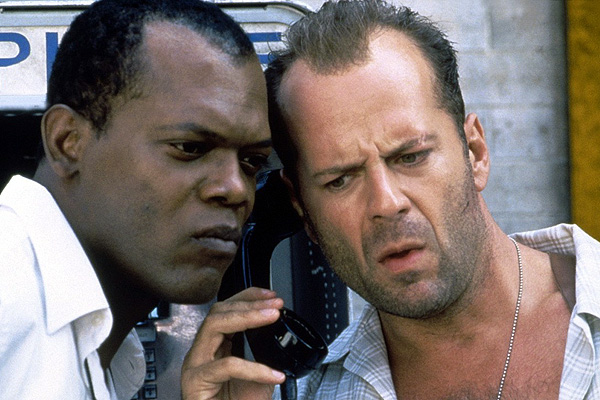 Bruce Willis was joined by Samuel L. Jackson (his 'Pulp Fiction' co-star) in 'Die Hard with a Vengeance'