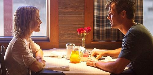 Josh Duhamel and Julianne Hough seek refuge from a storm in 'Safe Haven'