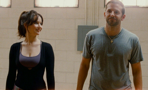 Jennifer Lawrence and Bradley Cooper in a scene from 'Silver Linings Playbook'