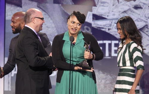 Ave DuVernay, writer/director/producer of 'Middle of Nowhere' accepting the John Cassavettes Award at the 2013 Independent Spirit Awards