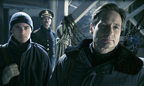 David Duchovny (right) and Derek Magyar in 'Phantom'